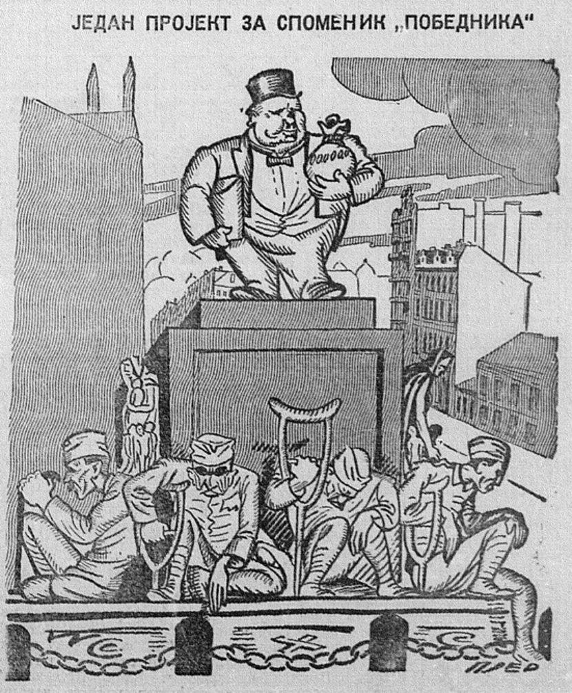 Karikatura, Kraljevina SHS, Kraljevina Jugoslavija, Politika, Pobednik