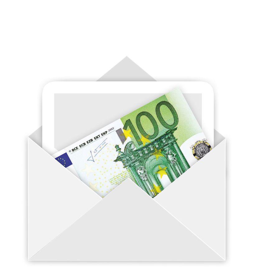Koverta sa 100 evra