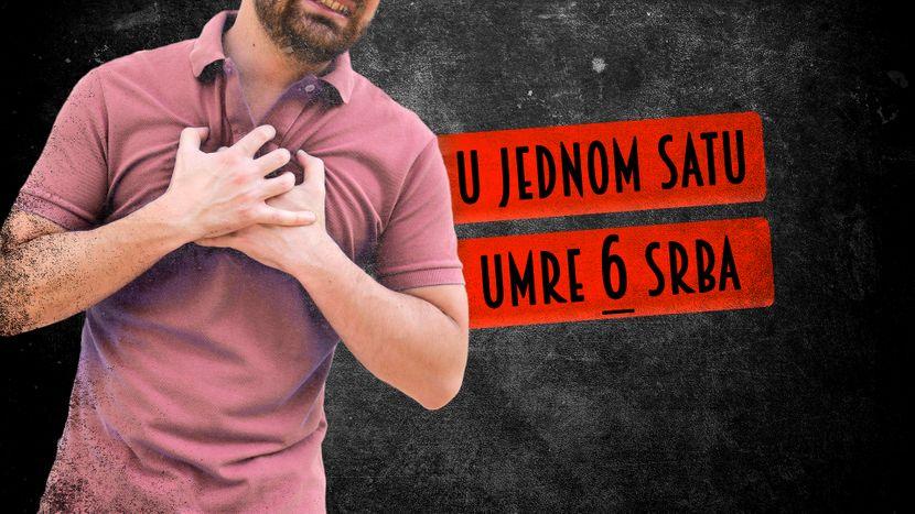 Srčani udar, napad, u jednom minutu umre sest Srba
