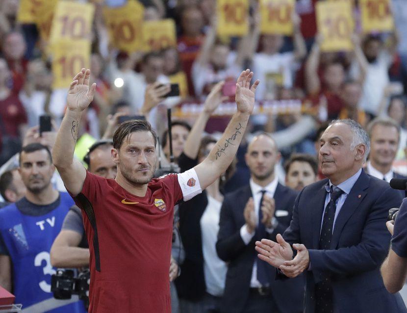 Italy Roma Totti Leaves