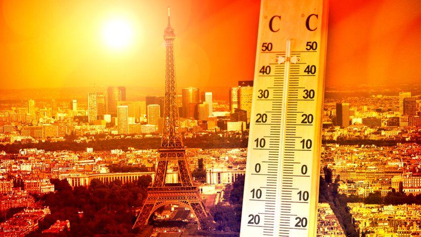 Pariz, vrućine, visoka temperatura