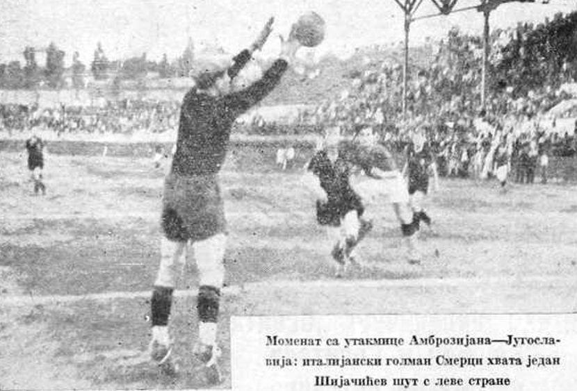 SK Jugoslavija, FK Inter Milan, Ambrozijana, Istorija fudbala, Kraljevina Jugoslavija