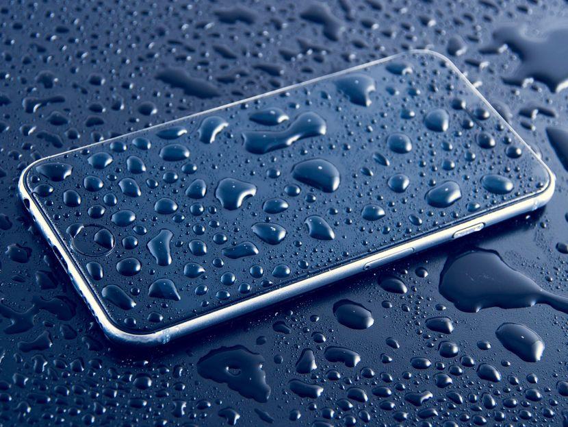 Telefon, iPhone, Vreme, Voda, Kisa