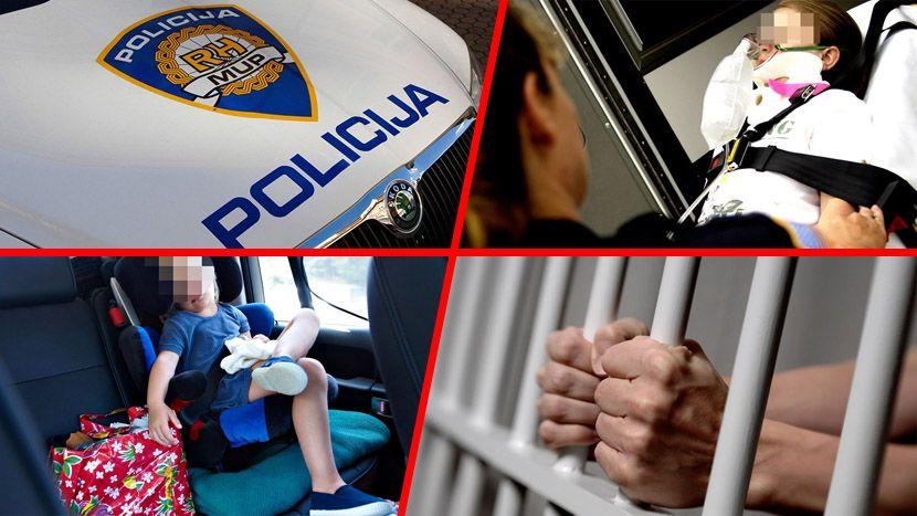 Zatvorenik, rešetke, dete automobil, hitna pomoc, policija hrvatska