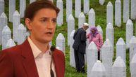 Nije laka nijedna godišnjica zločina u Srebrenici, ali Srbija za to nije kriva: Brnabić o žrtvama