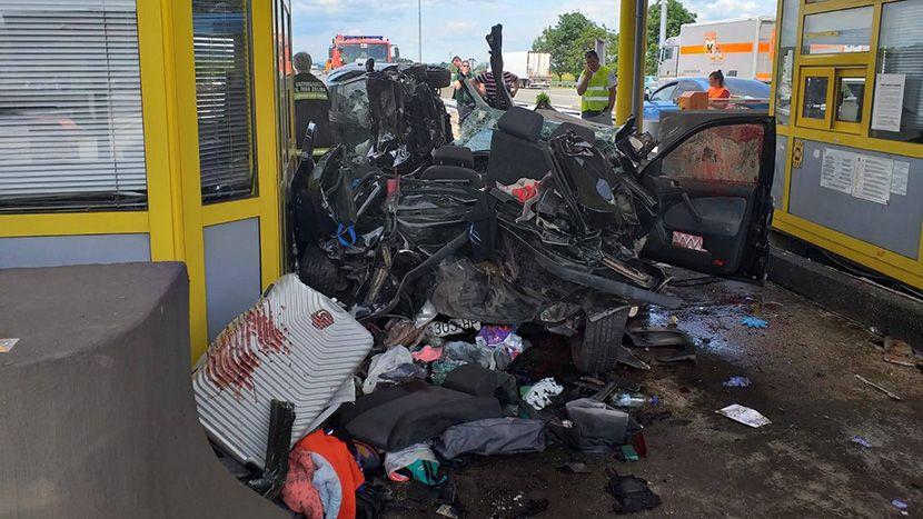 Naplatna rampa, saobracajna nesreca, Sveta Helena, Hrvatska