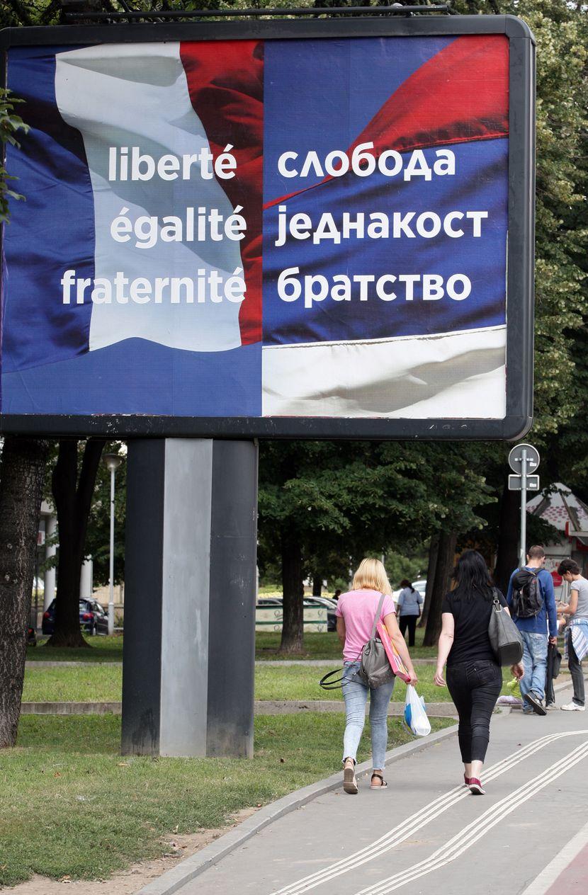 Aleksandar Vučić, Emanuel Makron poseta pripreme