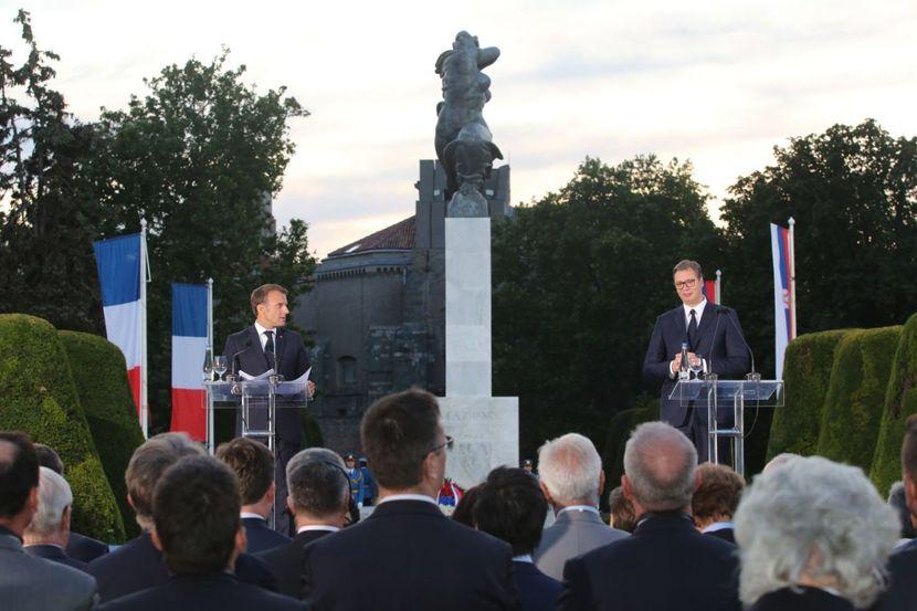 Emanuel Makron, Aleksandar Vučić, Kalemegdan