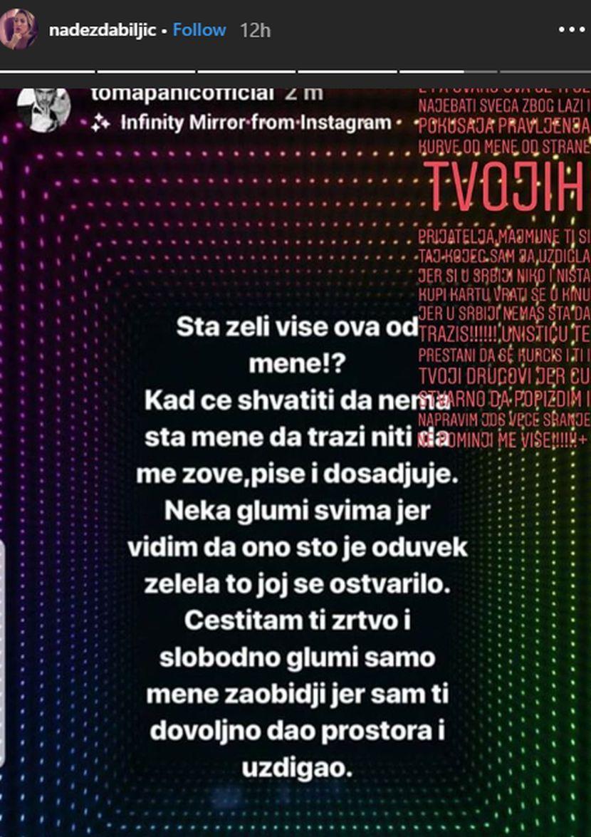 Toma Panić, Nadežda