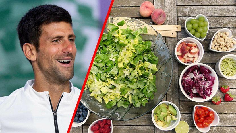 Novak Djokovic Đoković, ishrana, hrana, salata