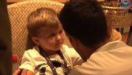 Sine, dugo si me čekao, jesi gladan? Novak posle osvajanja Vimbldona imao najslađi razgovor (VIDEO)