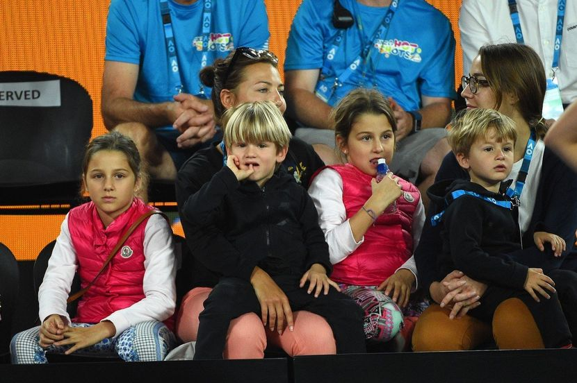 Mirka Federer sa decom