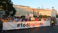 """U Beogradu održan protest """"1 od 5 miliona"""""""