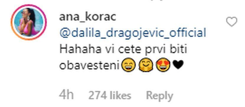 Ana Korać, Dalila Dragojević