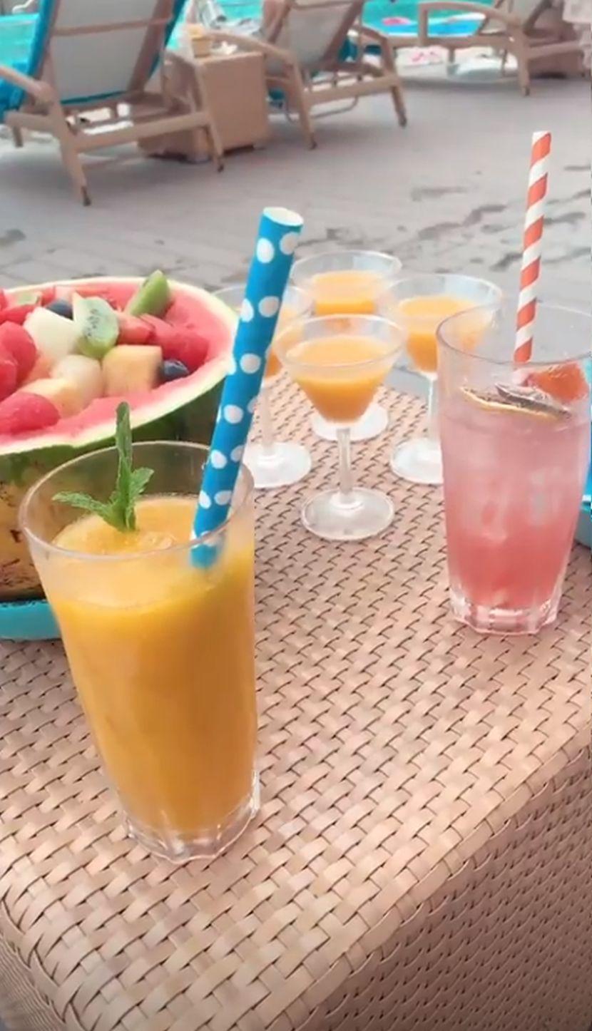 Jelena Karleuša, voće, sokovi