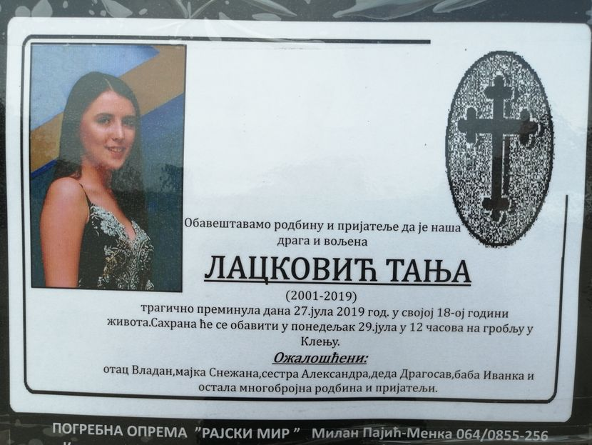 sahrana dece stradale u selu Tabanović