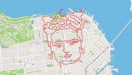 Svoje rute pretvara u umetnost: Trčao ulicama iscrtavajući na mapi lik Fride Kalo