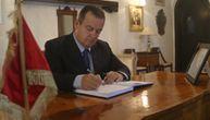Najdublje saučešće zbog smrti predsednika Tunisa: Dačić se upisao u knjigu žalosti (FOTO)