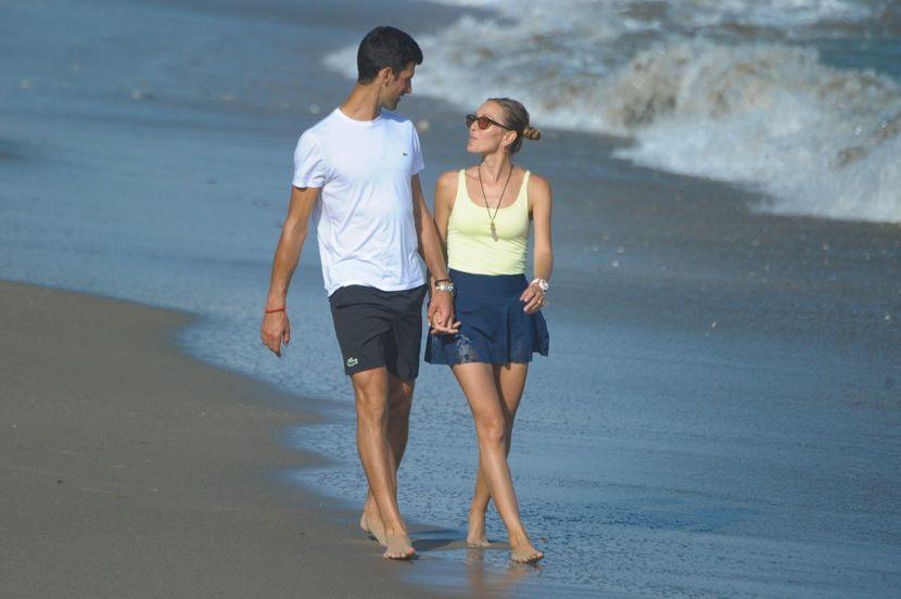 Novak i Jelena Djokovic Đoković, suknja