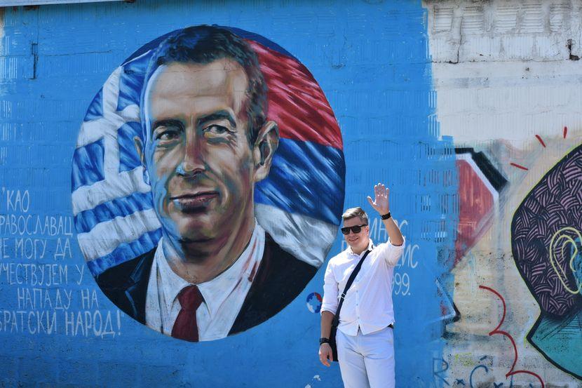Marko Ćulum, muralista, mural, Grk, Marinos Ricudis