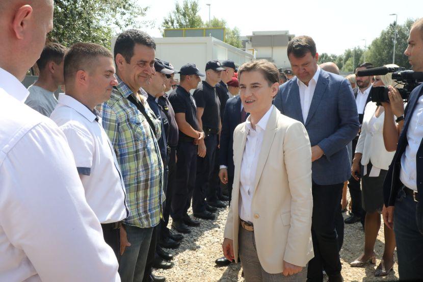 Novi Sad, Ana Brnabić, Kamen temeljac za stanove pripadnika bezbednosti