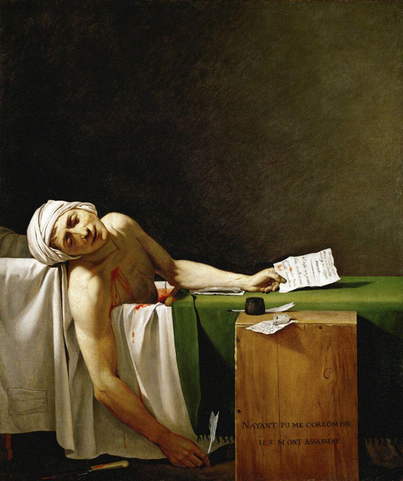 Žak-Luj David, Slikarstvo, Istorija umetnosti, Francuska revolucija, Žan-Pol Mara