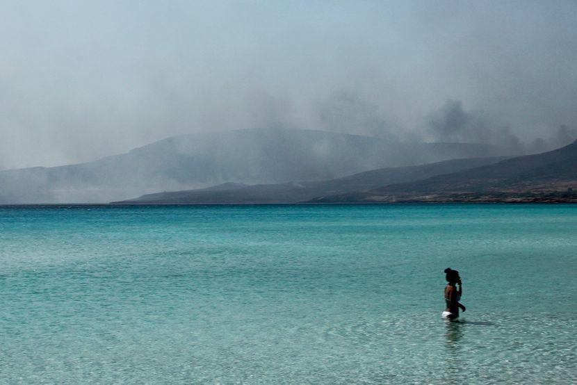 Elafonisos Grčka ostrvo požar