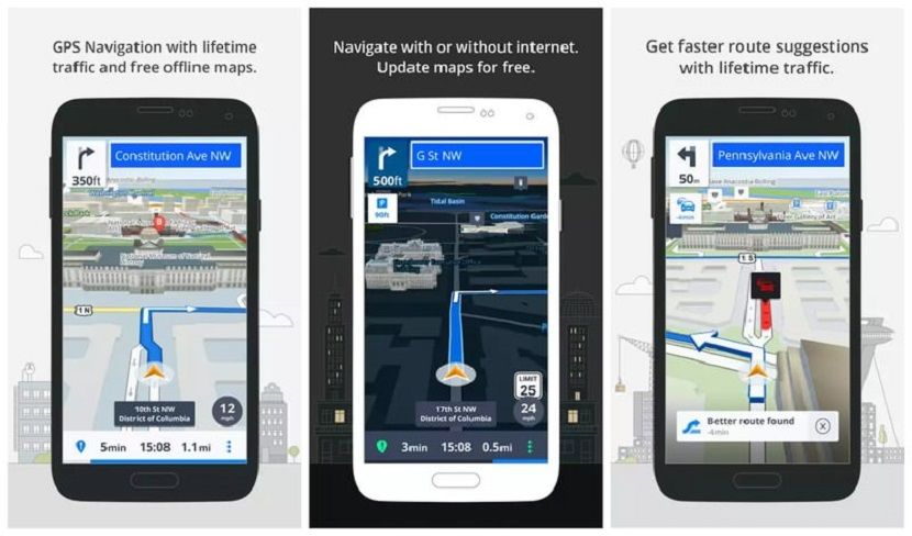 Mape, Navigacija, GPS