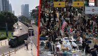 Aerodrom u Hongkongu ponovo zatvoren, Kina gomila trupe u blizini granice i tvrdi da je to vežba