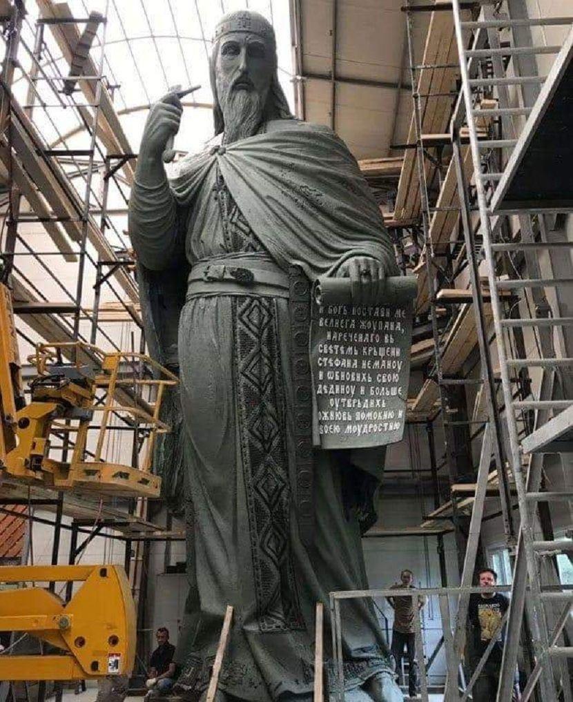 Ovako Izgleda Spomenik Stefanu Nemanji Simbol Stvaranja Srpske