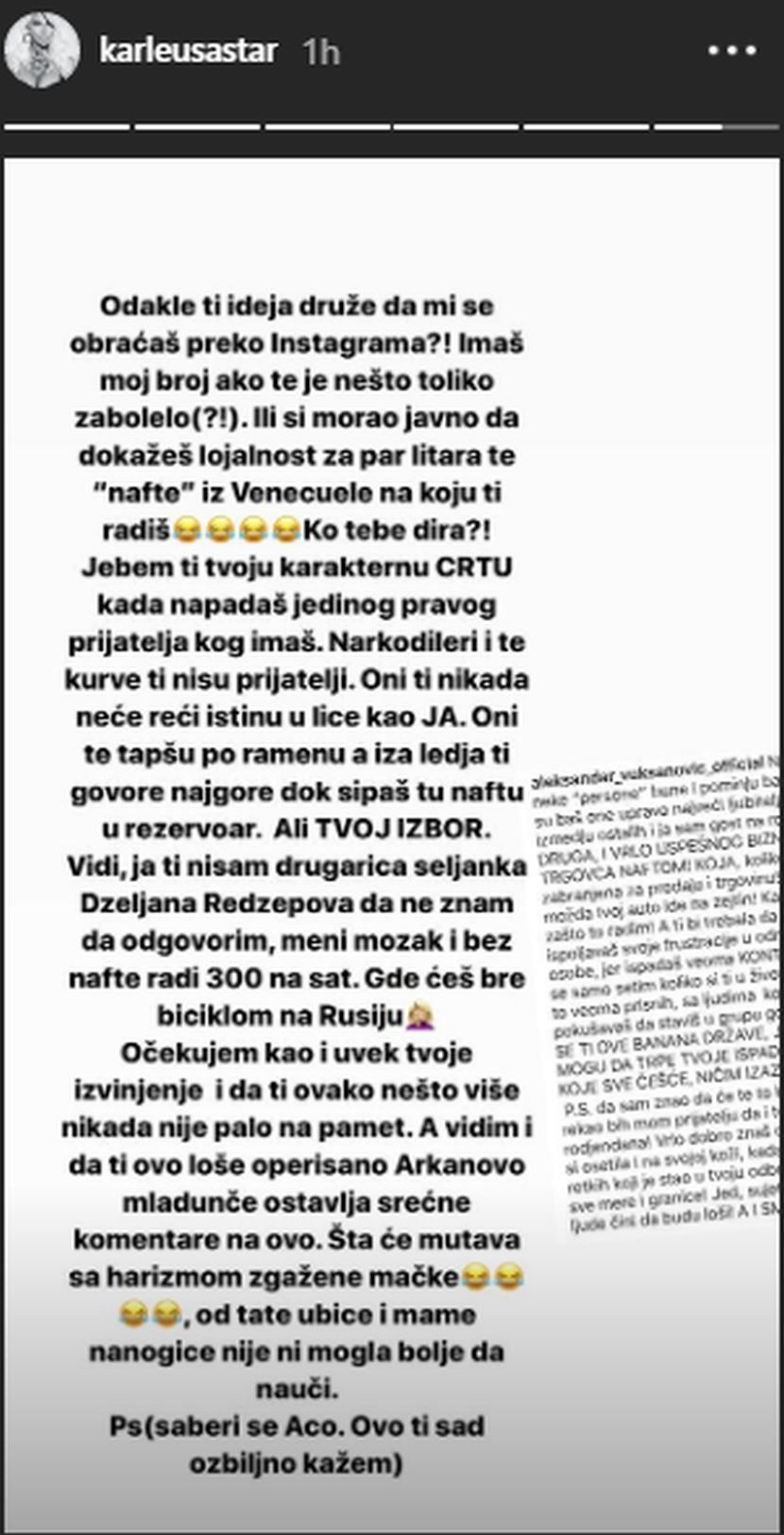 Jelena Karleuša Aca Lukas