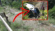 Užasne scene u Sićevačkoj klisuri: BMW-om kočili na mestu bez ograde i čudom preživeli pad u ambis