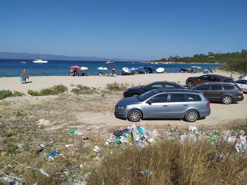 djubre, plaža, grčka , halkidiki
