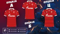 Zvezda dala priliku navijačima da biraju 3. garnituru dresova, sve opcije su crvene!