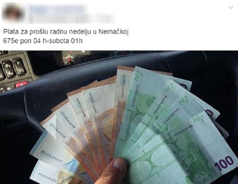 Nedeljna zarada, novac, evri
