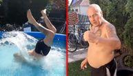 Skok na glavu u bazen od 60cm! Kruševački don opet izazvao Kristijana Golubovića (VIDEO)