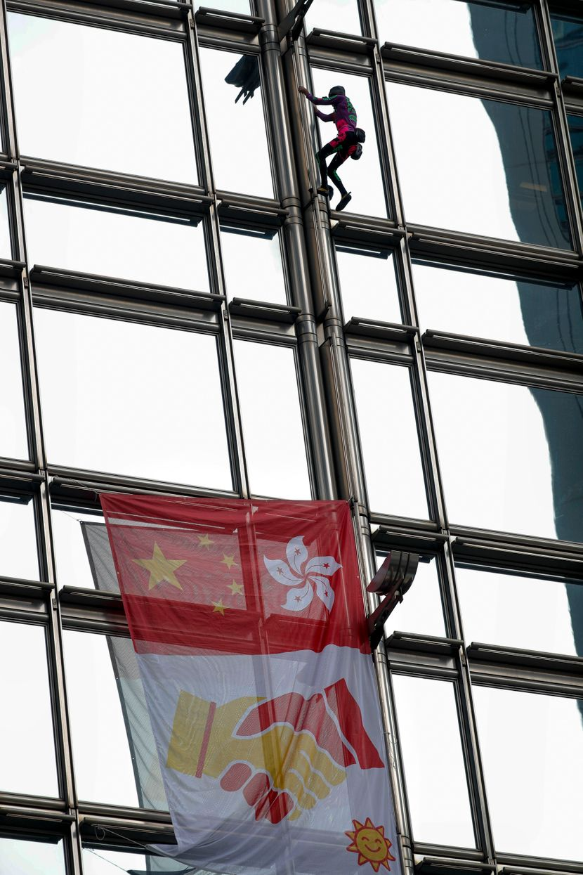 Spajdermen kači zastavu u Hongkongu