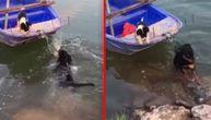 Primetio je da mu drug panično skarliče na čamcu. Bacio se u vodu kao pravi heroj (VIDEO)