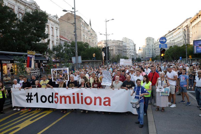 Ucenici protesta 1 od 5 miliona  u Beogradu