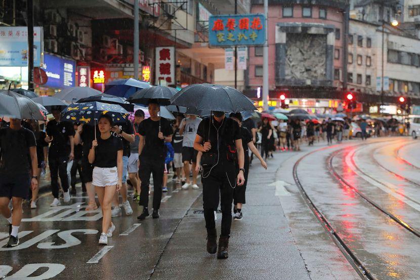 Hong kong, protest, kišobrani