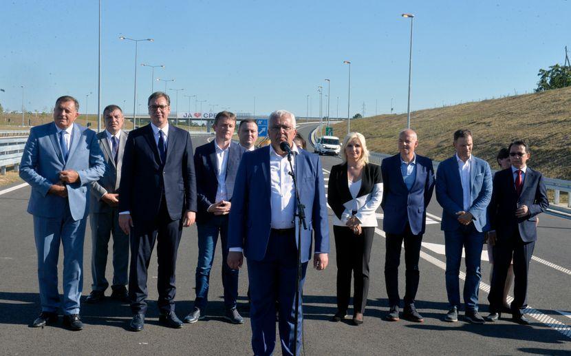 Otvaranje auto-puta Miloš Veliki, Andrija Mandić