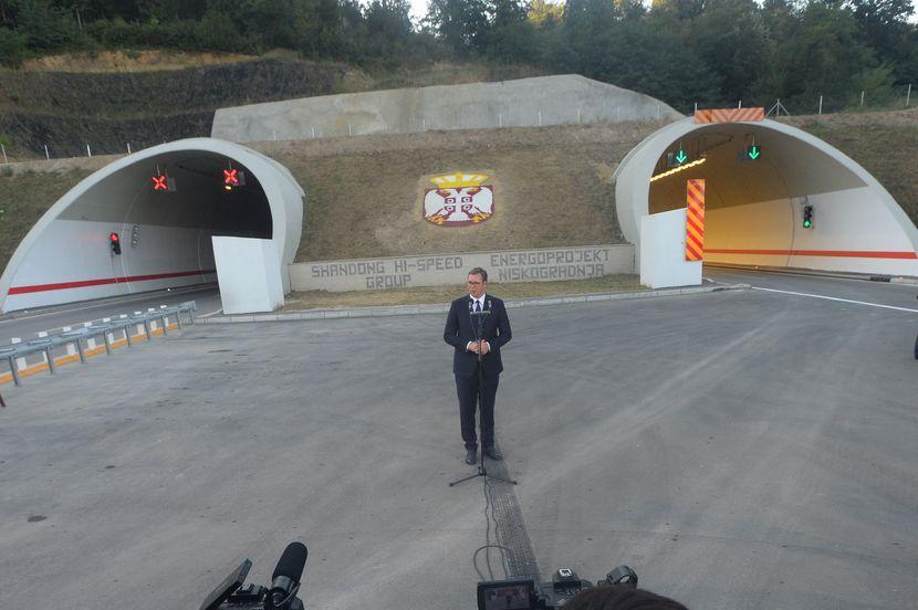 Otvaranje auto-puta Miloš Veliki, Aleksandar Vučić