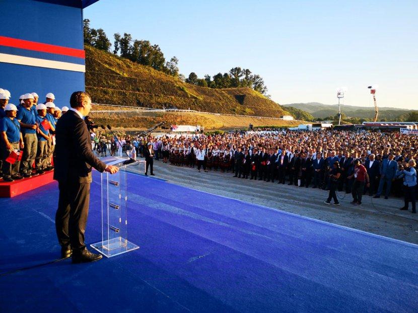 Aleksandar Vucic, otvaranje autoputa