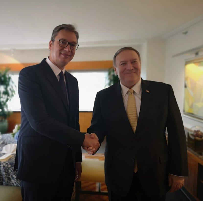 Aleksandar Vučić i Majk Pompeo