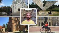 Nemanja je krenuo biciklom na put od preko 1.000 kilometara: Njegov cilj je Hilandar (FOTO)