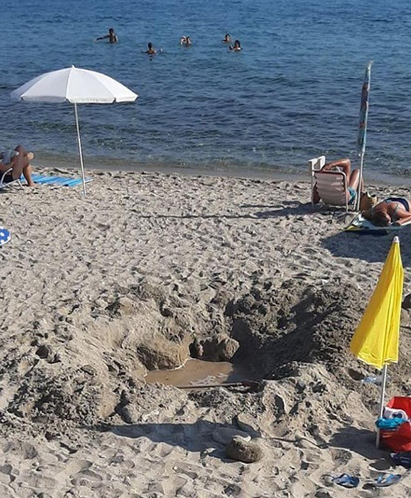 pesak, rupa, plaža