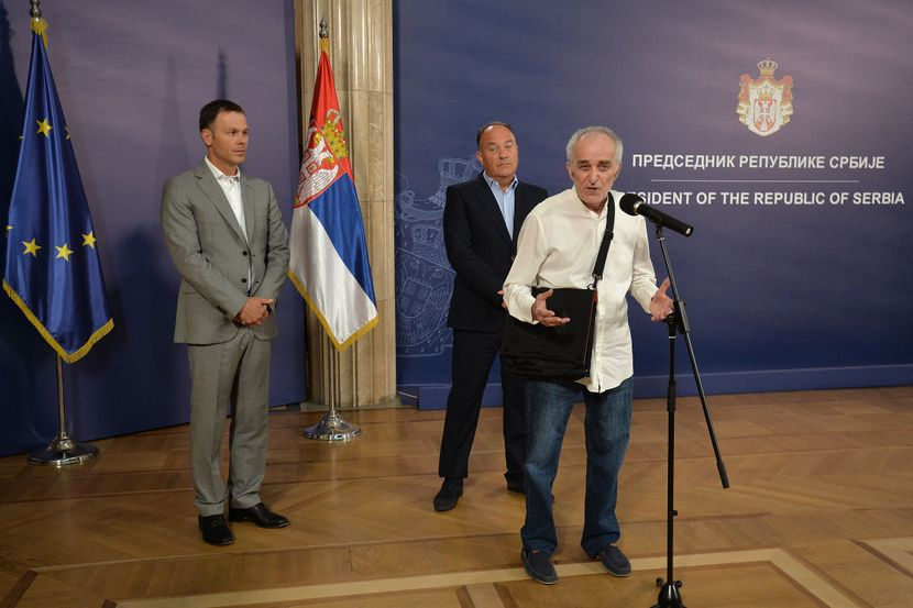 Aleksandar Vučić, predsednik Srbije, profesor Stojan Radenović