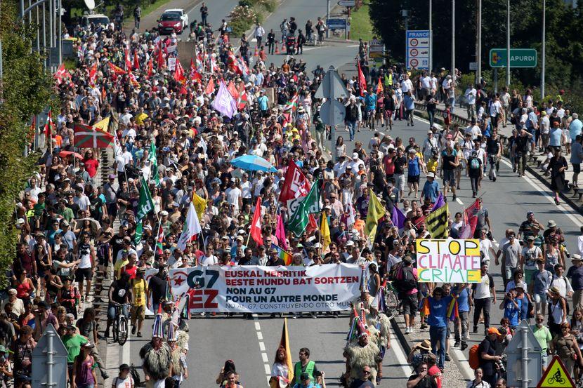 Španija, G7 protest