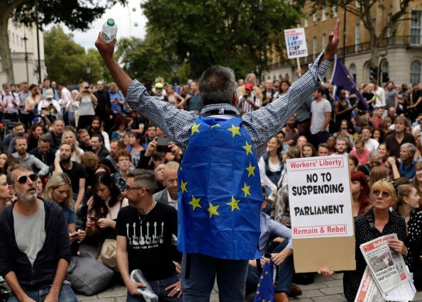 Britanija protesti
