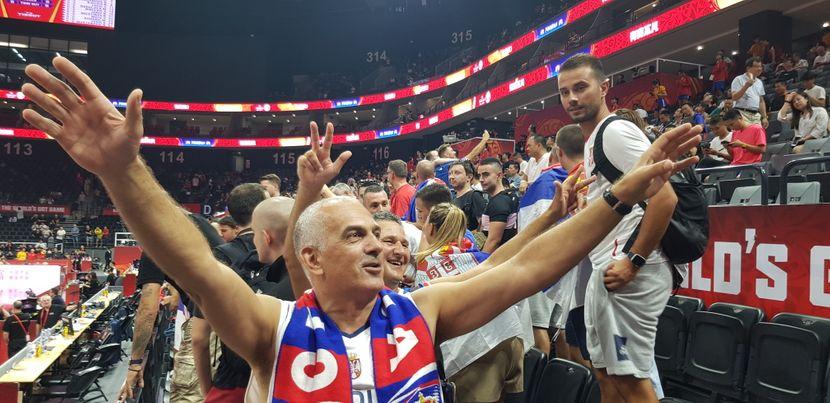 Košarkaška reprezentacija Srbije, Navijači, Kina 2019